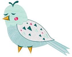 Cute Blue Bird embroidery design