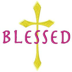 Blessed Cross embroidery design