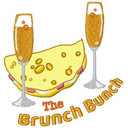 The Brunch Bunch embroidery design