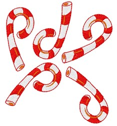 Christmas Candy Canes embroidery design
