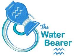 Aquarius: The Water Bearer embroidery design