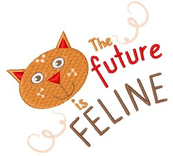 The Future Is Feline embroidery design