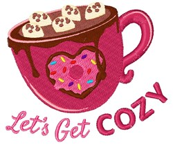 Lets Get Cozy embroidery design