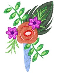 Floral Corsage embroidery design