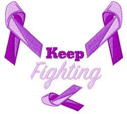 Keep Fighting embroidery design