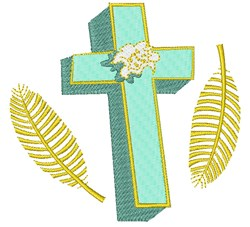 Easter Cross embroidery design