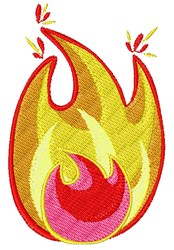Fire & Flame embroidery design
