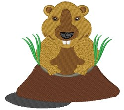 Groundhog embroidery design