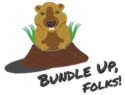 Bundle Up, Folks! embroidery design