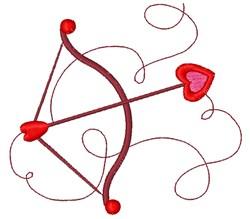 Cupids Bow & Arrow embroidery design