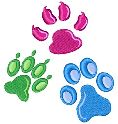 Paw Prints embroidery design