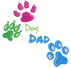 Dog Dad Paw Prints embroidery design