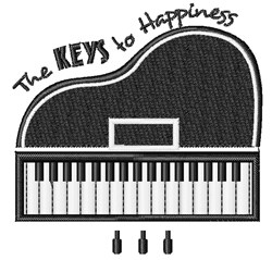 The Keys To Happiness embroidery design