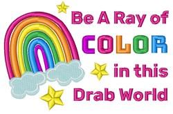 Be A Ray Of Color embroidery design