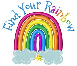 Find Your Rainbow embroidery design