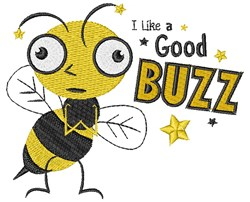 A Good Buzz embroidery design