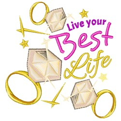 Best Life embroidery design