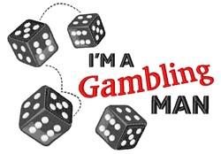 Gambling Man embroidery design