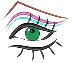 Female Eye embroidery design