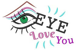 Eye Love You embroidery design