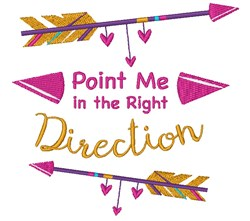 Right Direction embroidery design