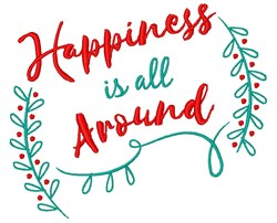 Happiness All Around embroidery design