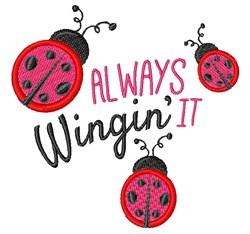 Wingin It embroidery design