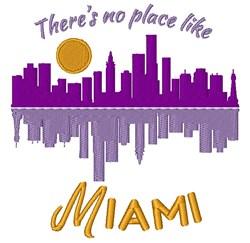No Place Like Miami embroidery design
