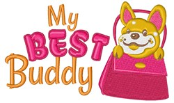 Best Buddy embroidery design