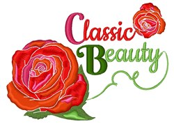 Classic Beauty embroidery design