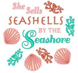 By Seashore embroidery design