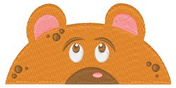 Bear Pocket Topper embroidery design