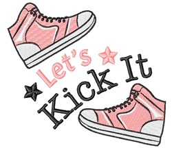 Lets Kick It embroidery design