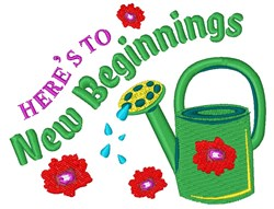New Beginnings embroidery design