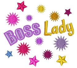 Boss Lady embroidery design