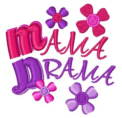 Mama Drama embroidery design