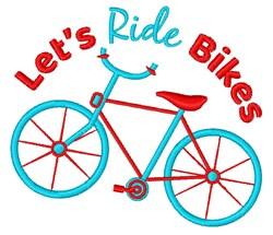 Ride Bikes embroidery design
