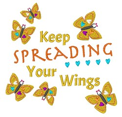 Spreading Your Wings embroidery design