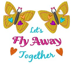 Fly Away embroidery design