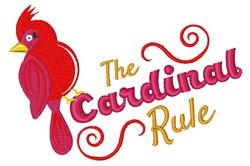 Cardinal Rule embroidery design