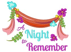Night To Remember embroidery design