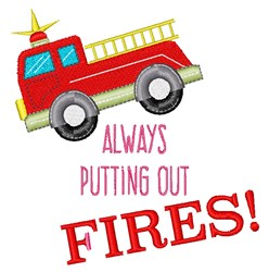 Putting Out Fires embroidery design