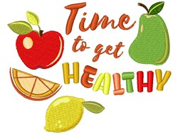 Get Healthy embroidery design