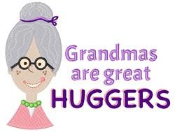 Grandma Huggers embroidery design