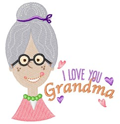Love You Grandma embroidery design