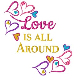 Love All Around embroidery design