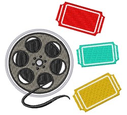 Movie Reel embroidery design