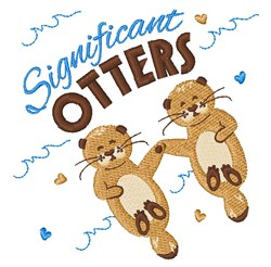 Significant Otters embroidery design