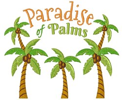 Paradise Of Palms embroidery design