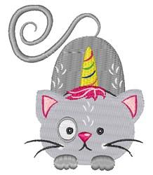 Unicorn Cat embroidery design